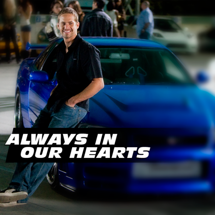 Penggemar Setia Film Fast and Furious? Ini Dia 6 Fakta Unik Film Fast and Furious 7! - paul walkter always in our hearts
