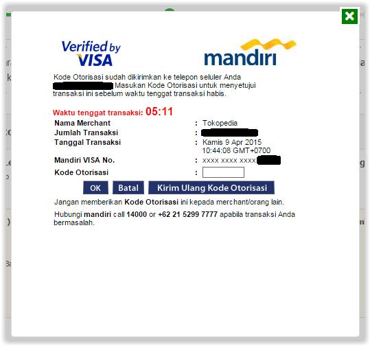belanja di Tokopedia dengan kartu kredit