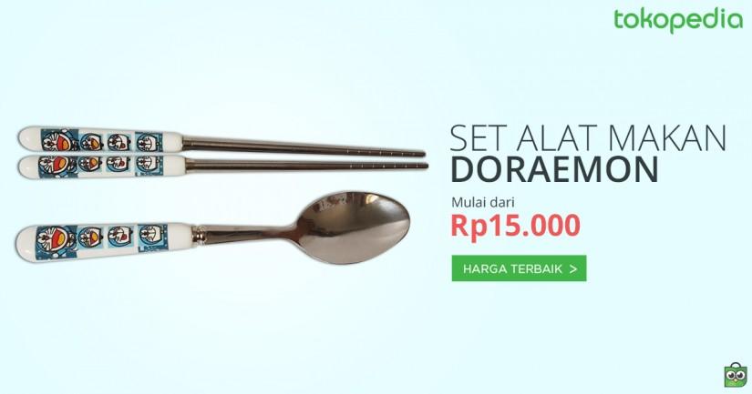 jual set alat makan doraemon lengkap dan murah