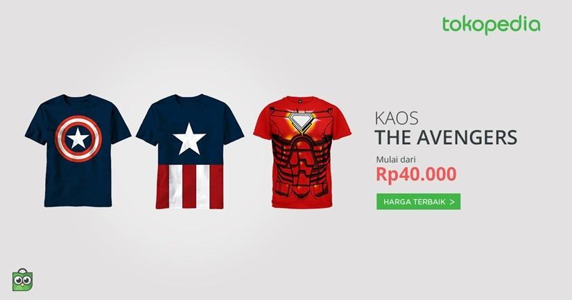 jual kaos the avengers murah