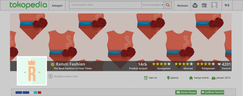 strategi pemasaran produk fashion secara online - buat logo toko yang menarik