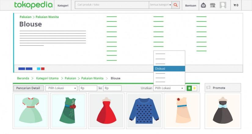 blog tokopedia - urutkan tampilan produk berdasarkan menu diskusi