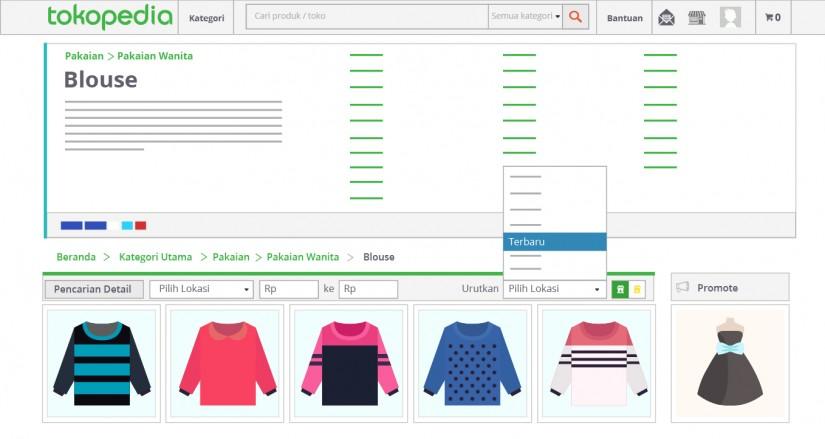 blog tokopedia - urutkan tampilan produk berdasarkan menu terbaru