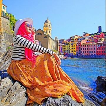 tips fashion hijab yang nyaman untuk liburan 1