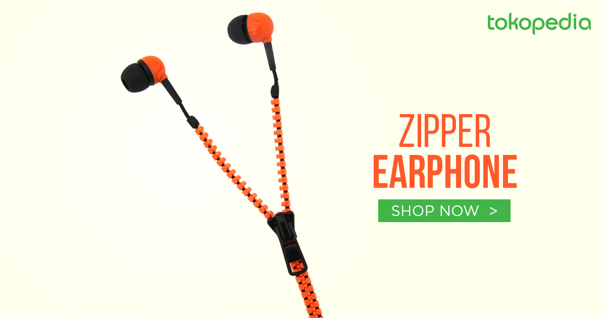 jual zipper earphone