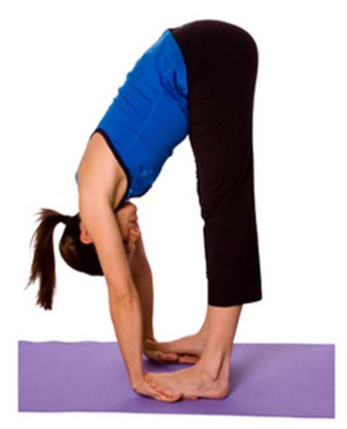 gerakan yoga untuk mengecilkan perut - yoga Padahastasana