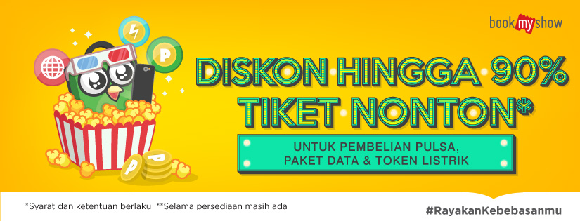 Image result for tokopedia bookmyshow promo