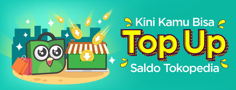 cara top up saldo tokopedia