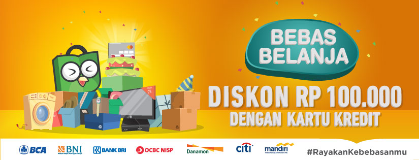 Belanja Pakai Kartu Kredit dan Cicilan, Diskon Rp 100.000!