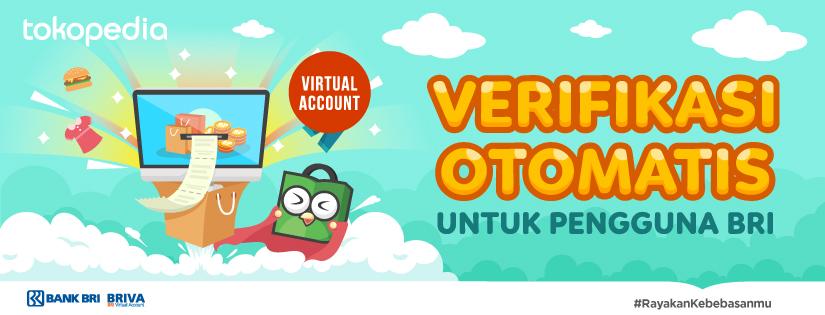 cara pembayaran tokopedia dengan briva (bri virtual account)