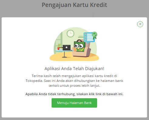 cara apply kartu kredit di Tokopedia