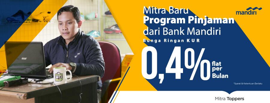 program pinjaman kur bank mandiri di Tokopedia