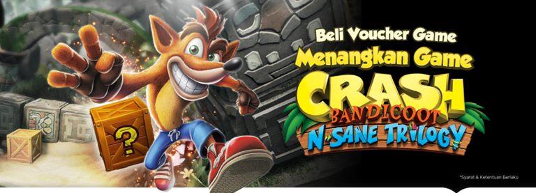 pengumuman pemenang giveaway nostalgia game crash bandicoot
