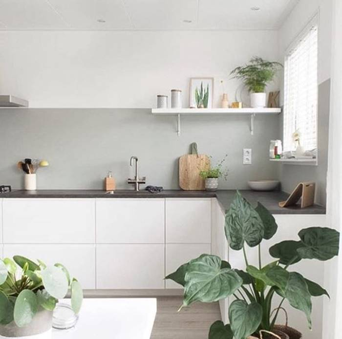 Percantik dapur dengan model kitchen set minimalis terbaru for Kitchen set hitam putih