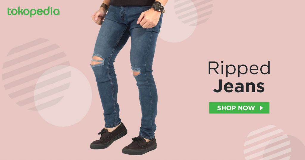 ripped jeans cowok