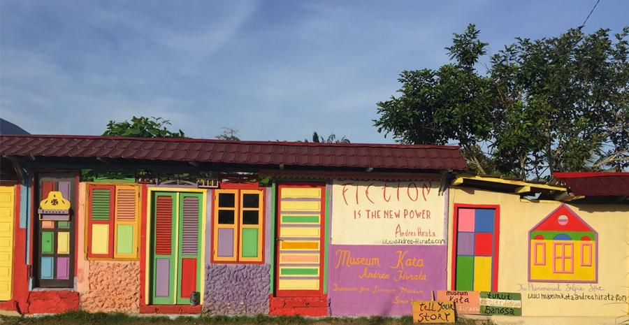 mengintip isi museum kata andrea hirata di Belitung