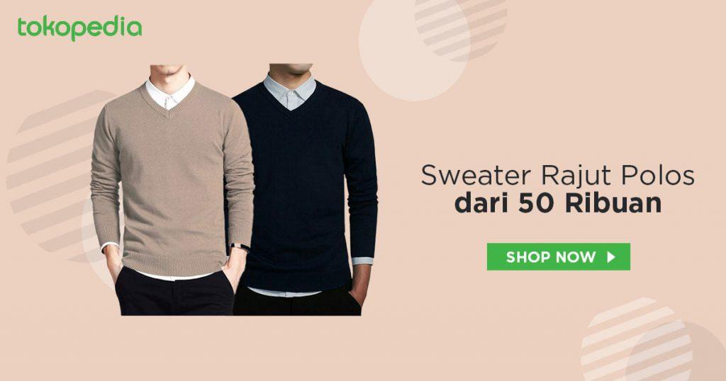 Sweater Rajut Polos Murah