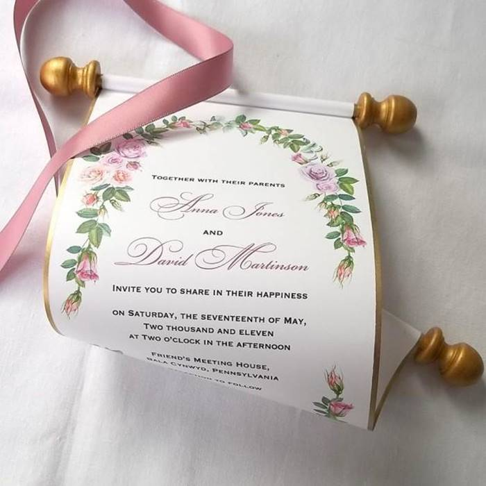desain undangan pernikahan unik