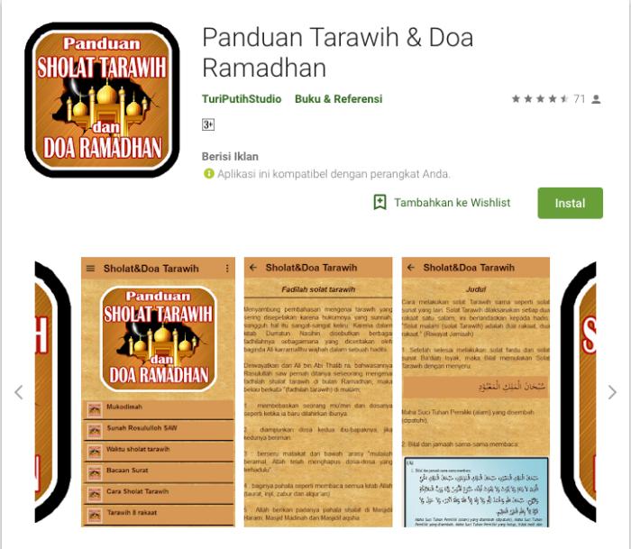 aplikasi bulan ramadhan - panduan taraweh