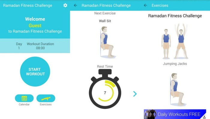 Aplikasi Ramadan Fitness Challenge