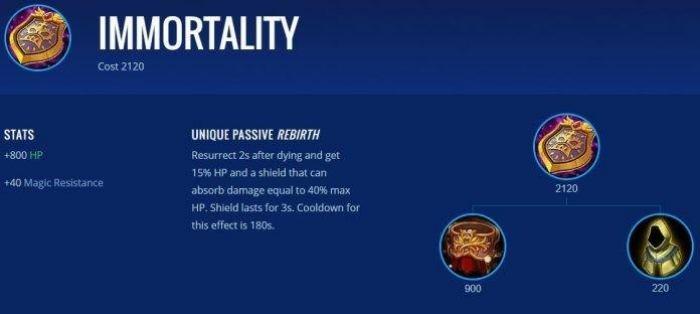 Immortality - Item Mobile Legends Terbaik