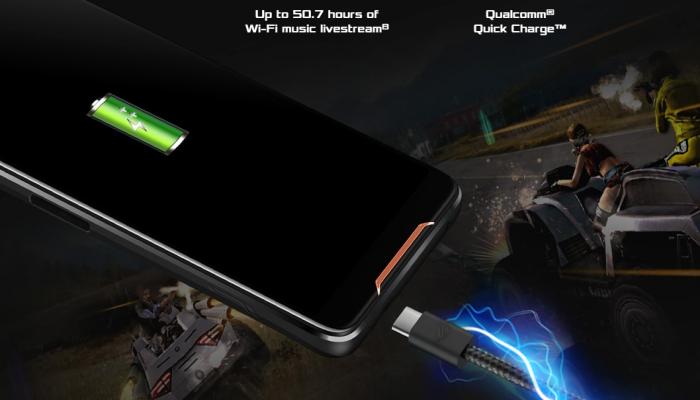 Kelebihan dan kekurangan Asus ROG Phone - Baterai Besar dengan Quick Charge 4+