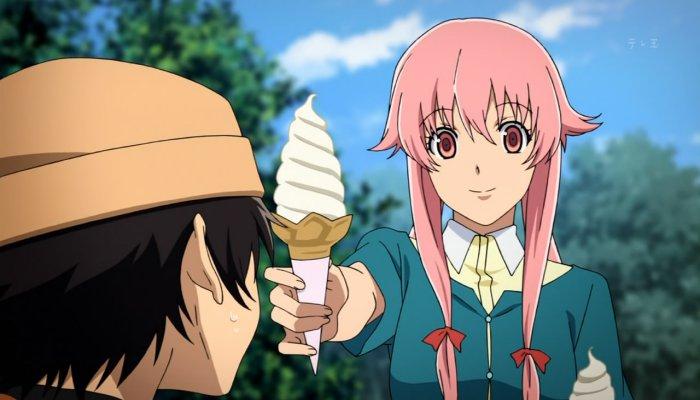 Film Anime Horor Terbaik - Future Diary (Mirai Nikki)