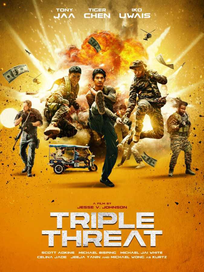 pemeran film triple threat, iko uwais triple threat, aktor film triple trheat