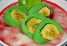 resep es pisang ijo, cara membuat es pisang ijo, kreasi resep dan cara membuat es pisang ijo