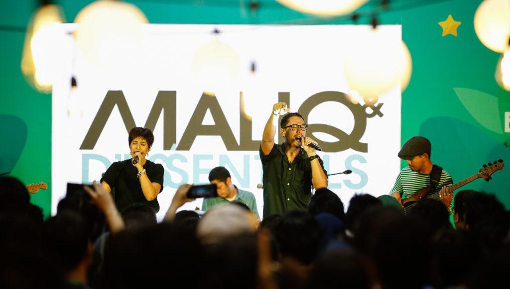 Nakama block party bernyanyi bersama maliq and d essentials