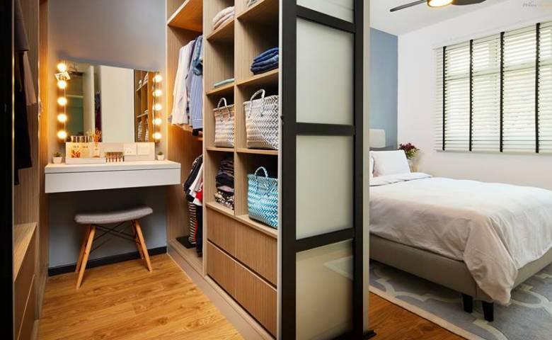 Desain Kamar Tidur Kecil 3x3  manfaatkan ruang terbatas dengan 15 desain walk in closet