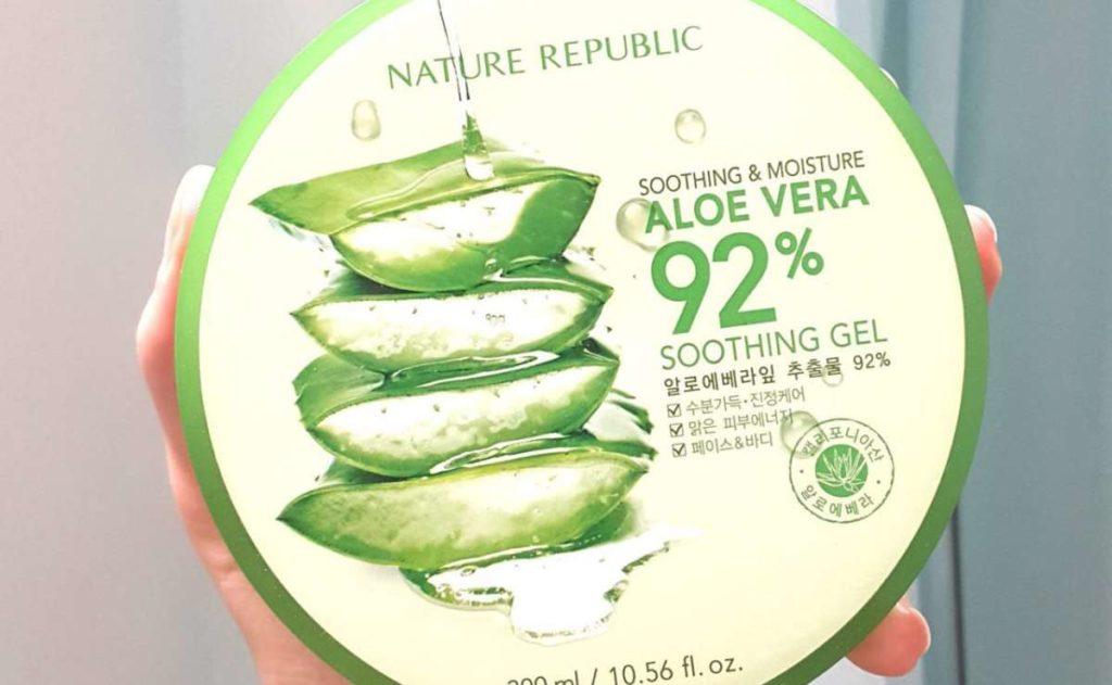 review nature republic aloe vera gel, manfaat nature republic aloe vera, kelebihan nature republic aloe vera