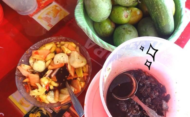 rujak buah, resep rujak buah, resep bumbu rujak buah