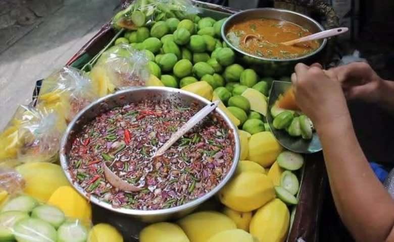 resep sambal rujak buah, cara membuat rujak buah