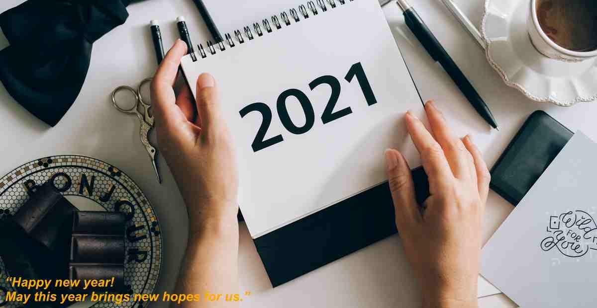 Kumpulan Ucapan Selamat Tahun Baru 2021 Bahasa Inggris Indonesia