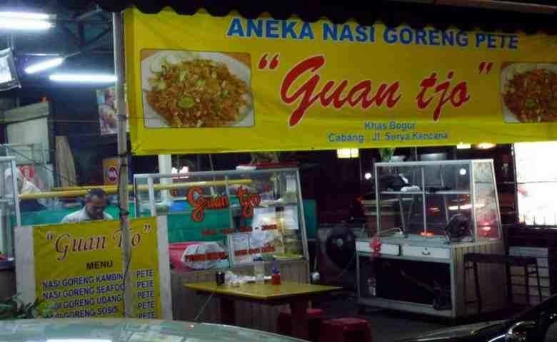 kuliner malam bogor Nasi Goreng Pete Guan Tjo
