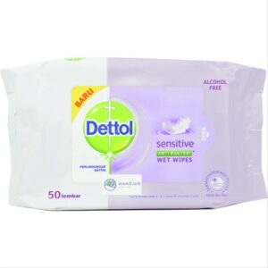 merk tisu basah yang bagus Dettol Anti Bakteri Wet Wipes Sensitive