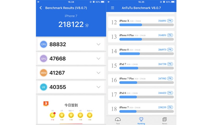 Review iPhone 7 2020 - Performa Chipset