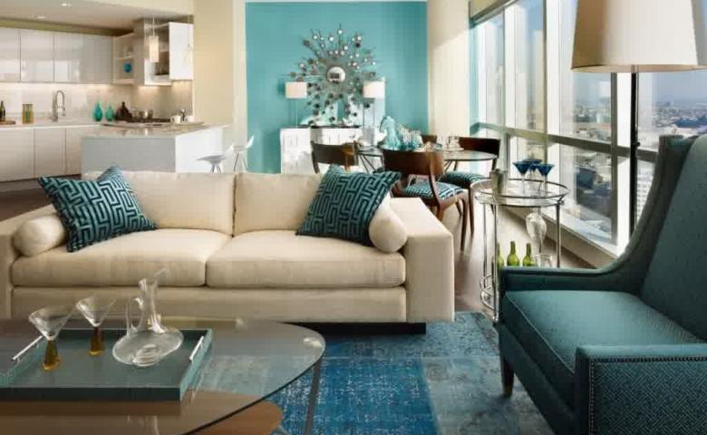 8 Desain Perpaduan Warna Cat Rumah Hijau Tosca Pada Interior