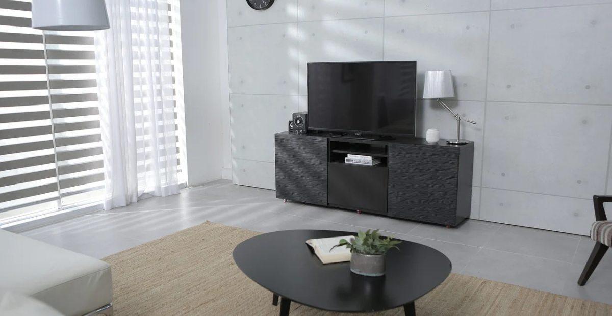desain meja tv idaman model minimalis