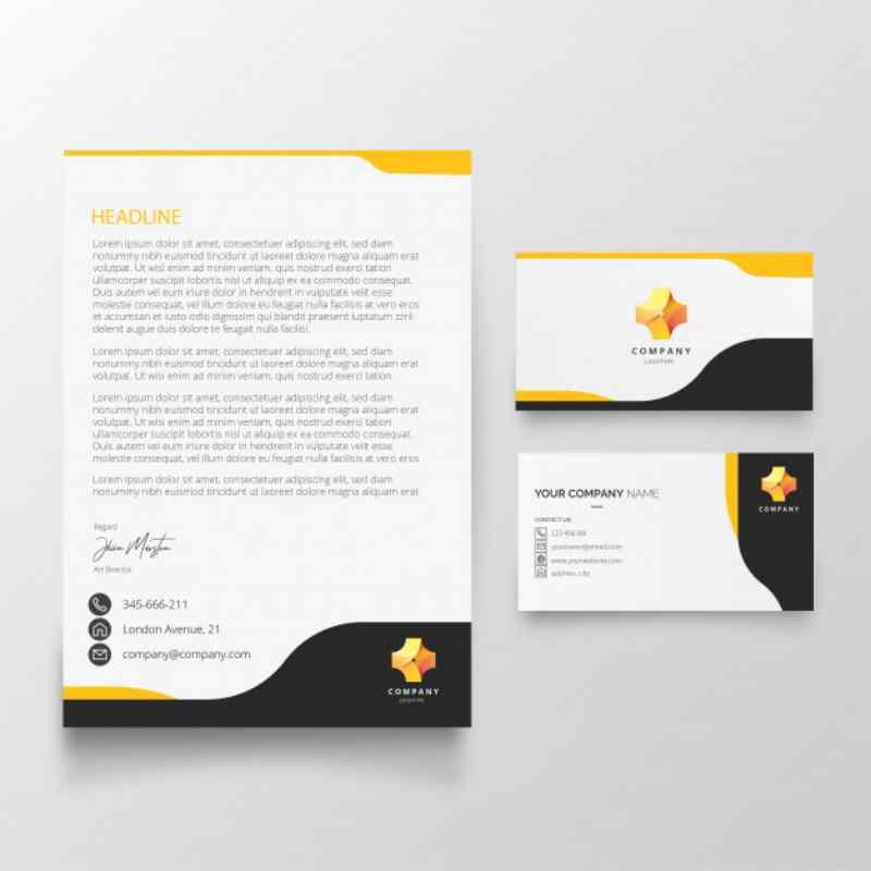 8 Ide Desain Kop Surat Perusahaan Yang Serasi