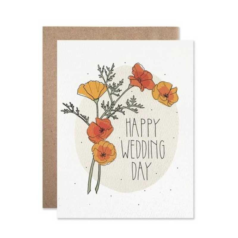 9 Ide Desain Kartu Ucapan Happy Wedding Day Unik Dan Menarik