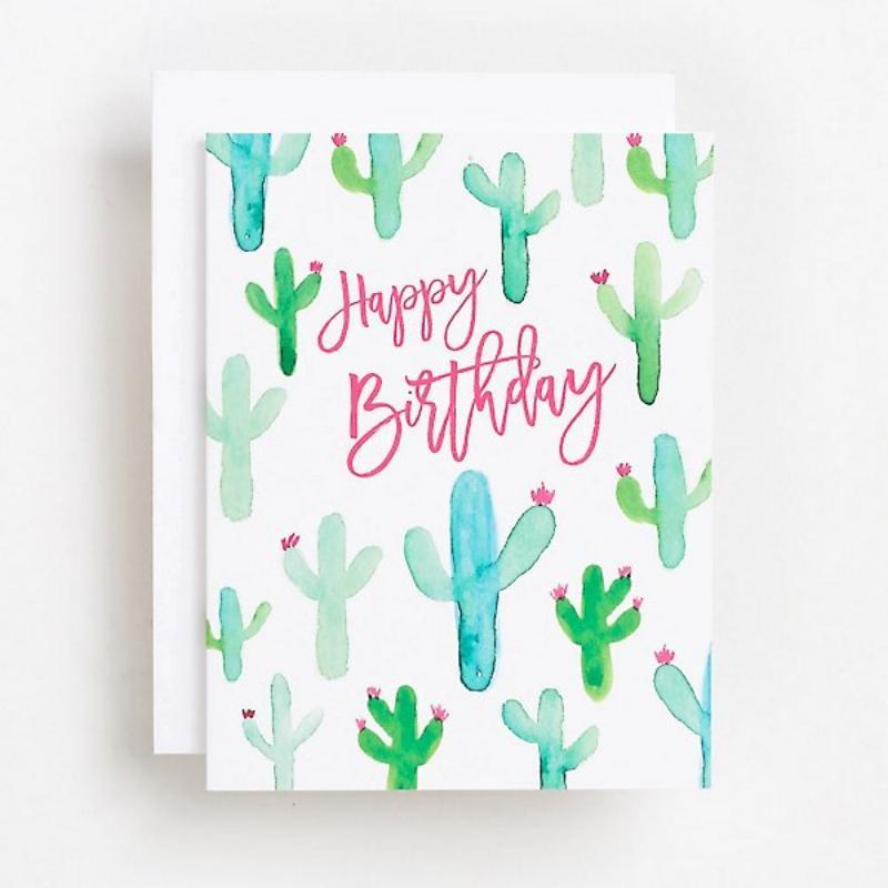 Desain kartu kaktus