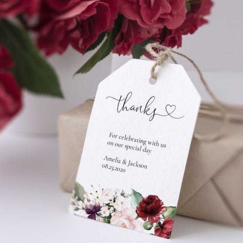 Thank you card bunga