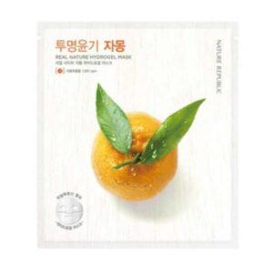 Grapefruit hydrogel sheet mask