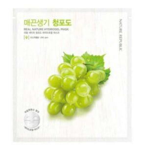 Green grape hydrogel mask