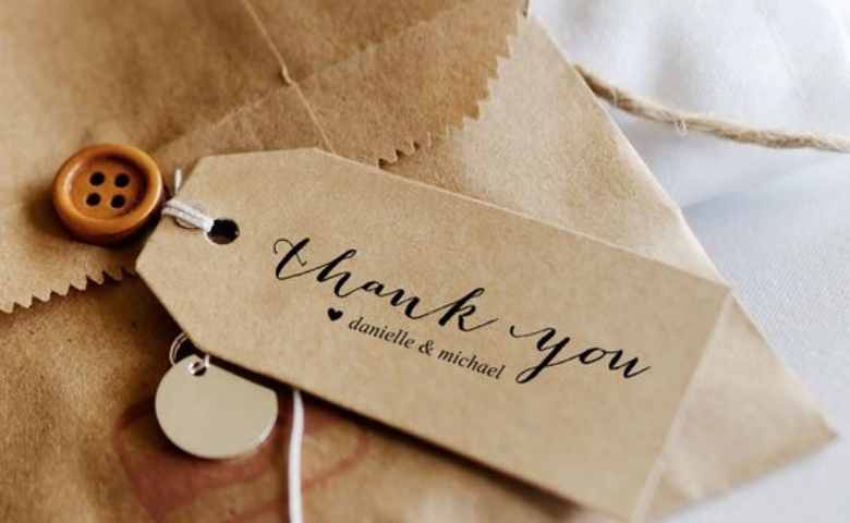 Thank you card coklat simple banner
