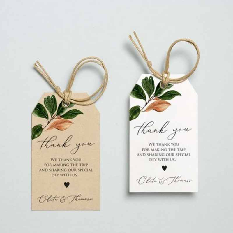 Thank you card rustic