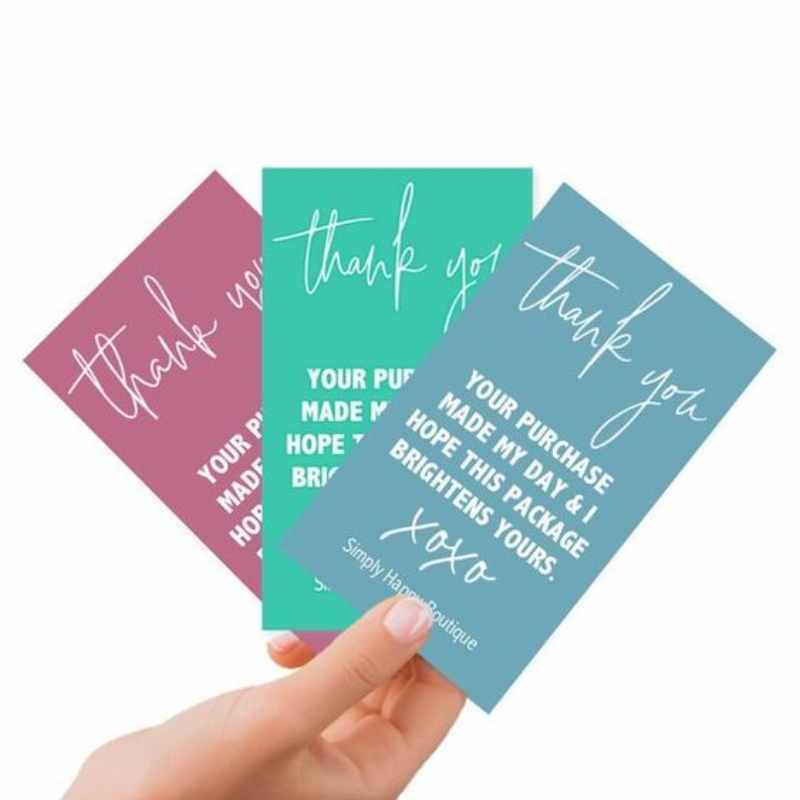 Thank you card colorful