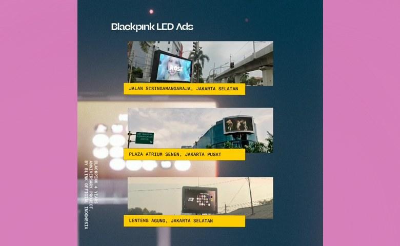 BLINK Indonesia Kompak Menyewa Billboard untuk Merayakan Ulang Tahun ke-4